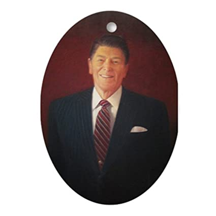 CafePress - Ronald Reagan Christmas Ornament - Oval Holiday Christmas  Ornament - Amazon.com: CafePress - Ronald Reagan Christmas Ornament - Oval