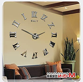 Amazon.com: Y-Hui The Atmosphere In The Living Room Wall Clock Clock ...