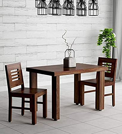 bcac68db2a RK Furniture Sheesham Wood 2 Seater Dining Table with Chairs- Brown:  Amazon.in: Home & Kitchen