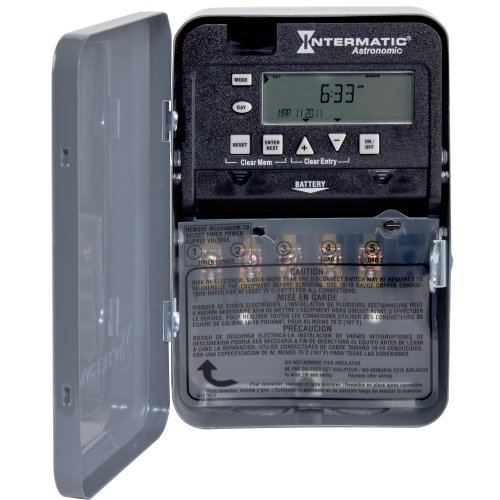 Intermatic ET8115C 7-Day 20-Amps SPDT Electronic Astronomic Time Switch, Clock Voltage 120-Volt - 277-Volt NEMA 1 ()