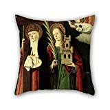 Oil Painting Master Of Manzanillo - The Catholic Kings With Santa Elena And Santa B??rbara Pillow Shams 18 X 18 Inches / 45 By 45 Cm For Family Father Floor Christmas Couch Teens Boys With Twin Si