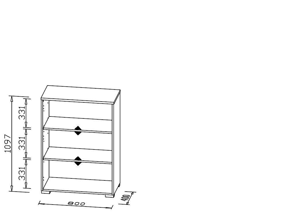 Dimensions LxHxP /1727/5539/Classement /étag/ères pour Meuble ICY-White Maja/ : 80/x 109.7/x 40/cm