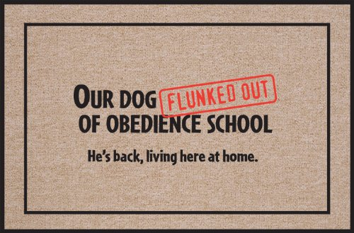 High Cotton Obedience School Doormat product image