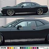 2x Decal Sticker Vinyl Side Racing Stripes Compatible with Dodge challenger R/T SRT8 SXT 2008-2015