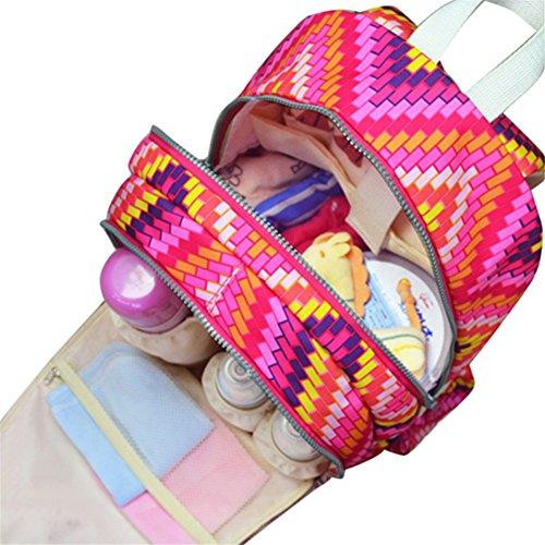 Kangming multifunción cambiador de bebé mochila gran capacidad momia bolsa azul azul rosso