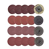 Bestgle 40pcs 2-Inch Quick Change Roll Lock Sanding Dics Surface Conditioning Discs for Die Grinder Surface Rust Paint Removal, Grit 24/16/120/240