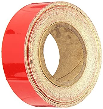 Red 10 yds Length x 1 Width Mutual Industries Inc Mutual 17786 Engineering Grade Retro Reflective Adhesive Tape 10 yds Length x 1 Width 17786-7910-1000
