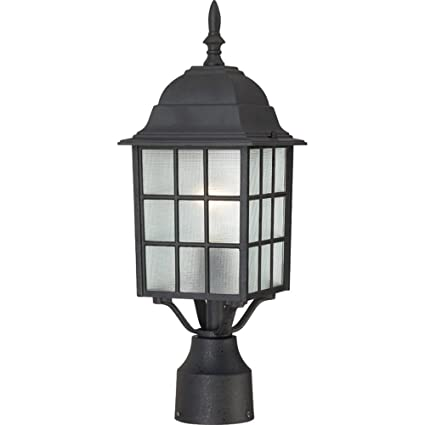 Nuvo lighting 604909 adams one light post lantern 100 watt a19 max nuvo lighting 604909 adams one light post lantern 100 watt a19 max frosted aloadofball Gallery