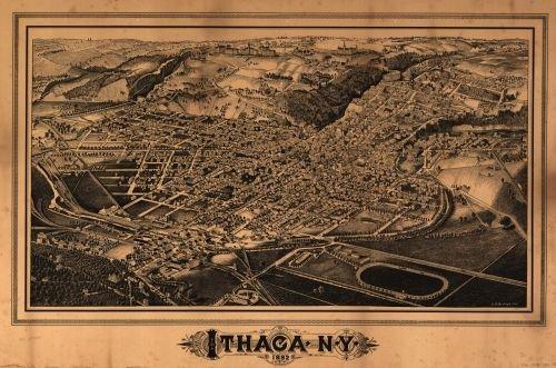 Art Framing New York Ny - Map of Ithaca, N.Y. Ithaca|New York (State)|Ithaca|New York|Aerial Views|Ithaca|Ithaca (N.Y.)|New York (State)