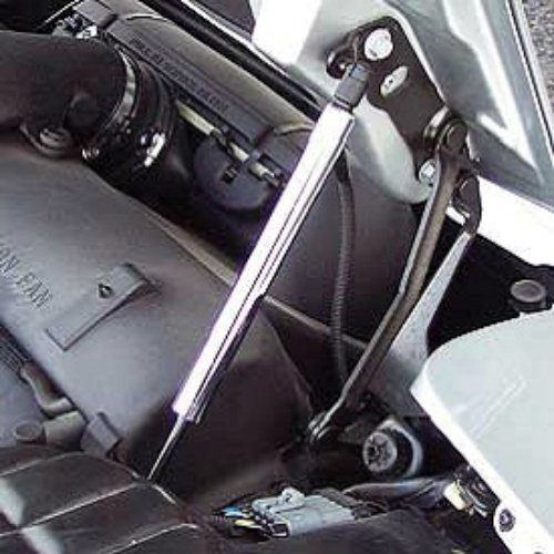 C5 Corvette Hood Support Strut Chrome Sleeve Covers Left + Right Sides Fits: All 97 through 04 ()