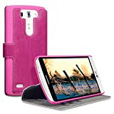 LG G3 S Case, Terrapin [Stand Feature] [Ultra Low Profile] LG G3 S Case Wallet [Pink] Premium Wallet Case with STAND Flip Cover for LG G3 S - Pink