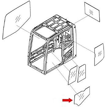 Amazon Com 20y 54 35821 Rear Door Slider Glass Made For Komatsu