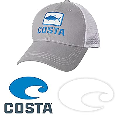 Costa Del Mar Tuna Trucker Hat and Costa Decal Stickers Pack from Costa