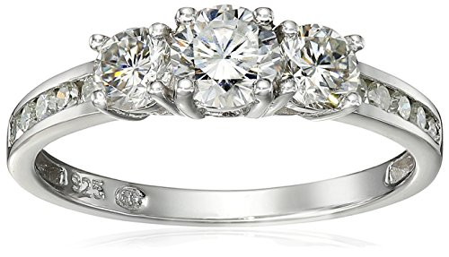 platinum-over-sterling-silver-vg-moissanite-3-stone-ring-with-accented-band-size-7
