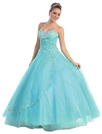 ca24ecbf7ed98 Dearta Women s Ball Gown Sweetheart Floor-Length Quinceanera Dresses ...