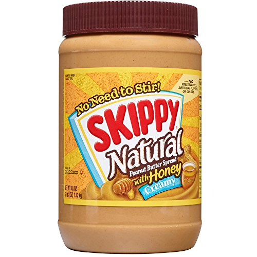 Honey Butter Spread - Skippy Natural Creamy Peanut Butter Spread with Honey