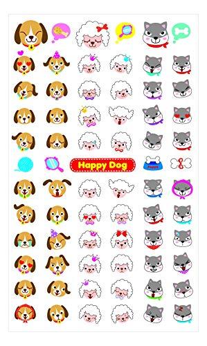 Toga Dogs Head Board Wall Sticker, Plastic, Multicoloured, 18.5x 9.5x 0.2cm]()