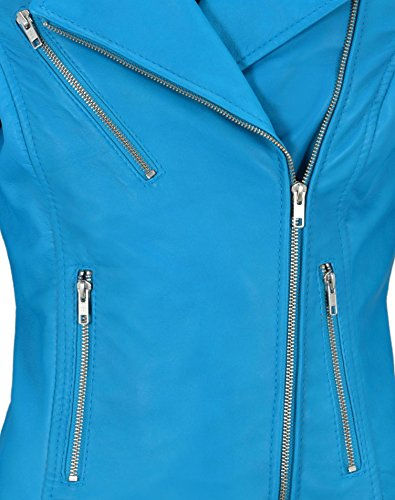 Biker Fashion Style Soft Veste Stylish Mila Kunis Blue En Electric 9334 Cuir Designer Mesdames wqqYH4z