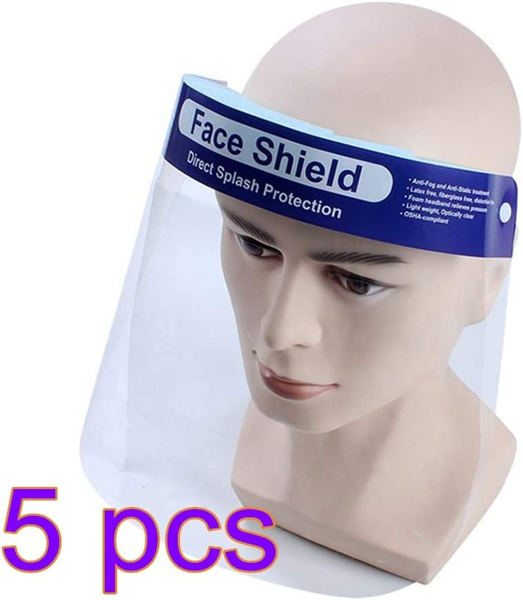 ZHOUXING - Máscara de Saliva Personal, Antipolvo, máscara de Seguridad Transparente, Saliva Salpicaduras, máscara de Sombrero, Equipo de protección Facial
