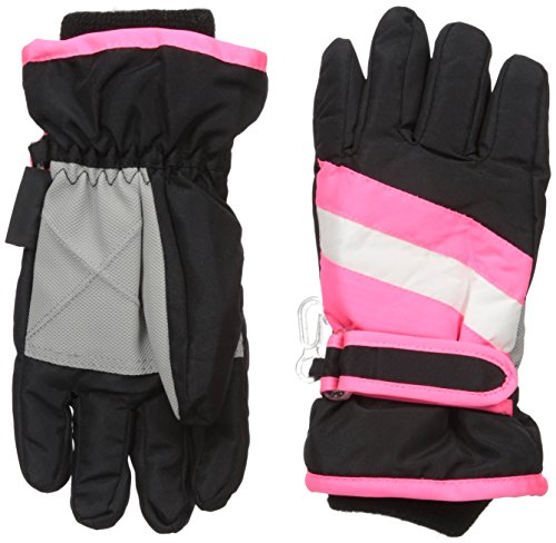 The Children's Place Big Girls 3-In-1 Snow Gloves, Black,...