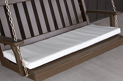 A & L Furniture Sundown Agora 4' Cushion For Bench Or Porch Swing, 45''L 17''W 2''T, Natural by A&L Furniture Co.