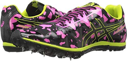 ASICS Women's Freak 2 Cross-Country Running Shoe, Hot Pink/Black/Neon Lime, 8 M US ()