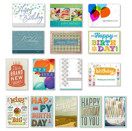 Hallmark Business Birthday 75 Pack Assorted Cards for Employees or Customers (Pack of 75 Assorted Greeting Cards for Business) by Hallmark Business Connections (Image #9)