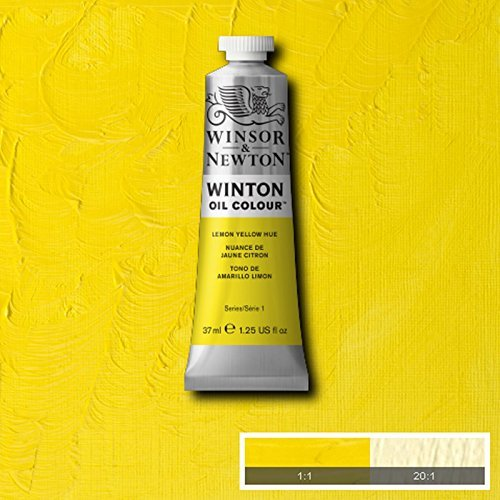Winsor & Newton Winton Oil Paint Tube Artist Art 37ml & 200ml ALL COLOURS (Lemon Yellow Hue, 200ml) by Winsor & Newton