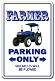 FARMER ~Novelty Sign~ parking signs farm tractor gift