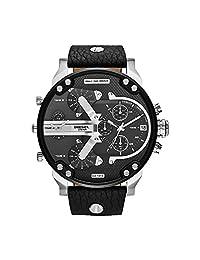Diesel Men's DZ7313 Mr Daddy 2.0 Stainless Steel Black Leather Watch