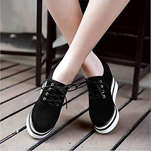 Poliuretano Primavera EU37 Sneakers Grigio Donna Plateau Per UK5 Comoda Scarpe 5 PU Estate CN37 TTSHOES Black US7 Nero xwAIX8w
