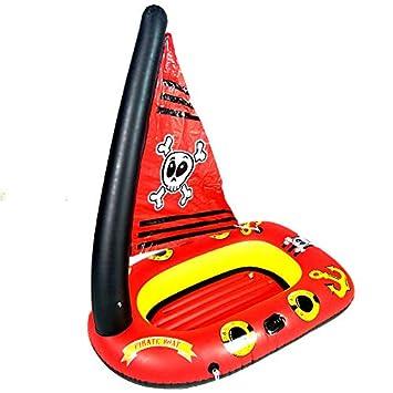 Rocsky Flotador Inflable, Colchoneta Hinchables Barco Pirata ...