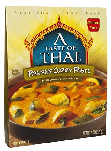 A Taste of Thai Panang Curry Paste, 1.75 oz Box, 6 Piece (Vegetarian Curry)