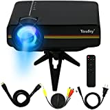 1200 lumens Mini LED Projector Multimedia Home Cinema Support PC Laptop Smartphone Xbox Portable for Home Cinema Theater Entertainment and Games, Perfect Gift for Your Family(Black)