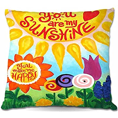 Outdoor Patio Couch Throw Pillows from DiaNoche Designs BBQ Outdoor Ideas by Nicola Joyner Unique You are My Sunshine Floral : Garden & Outdoor