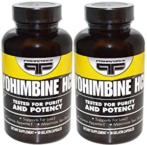 Yohimbine Hcl Supplements Vegetarian Capsules Primaforce (90x2) by Primaforce