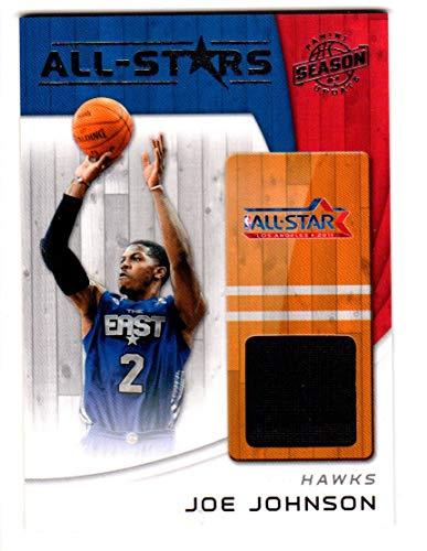 2010-11 Panini Season Update All-Stars Materials #14 Joe Johnson GAME USED JERSEY ARKANSAS RAZORBACKS ATLANTA HAWKS