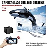 WiFi Display Dongle,WiFi Portable 5G Gen HD 1080P Screen Mirroring Plug and Play Adapter HDMI & AV Dual Video WiFi Receiver, Receiver for iOS iPhone iPad/Android Smartphones/ Windows/ Macbook