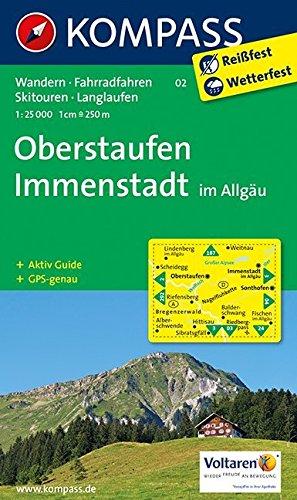 oberstaufen-immenstadt-im-allgu-wanderkarte-mit-aktiv-guide-radwegen-skitouren-und-loipen-gps-genau-1-25000-kompass-wanderkarten-band-2