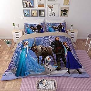 Amazon.com: EVDAY Frozen - Juego de funda de edredón para ...