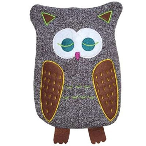 HUGO FROSCH, 0.8L Kids Eco Hot Water Bottle with Animal Cover, Cute Owl, Highest Quality - Made in Germany