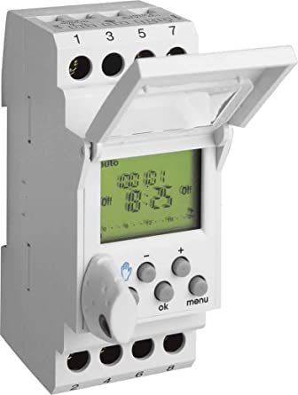 Hager EG103 Weekly Timer/Counter, Electric - (Grey, Digital ons, 1 on