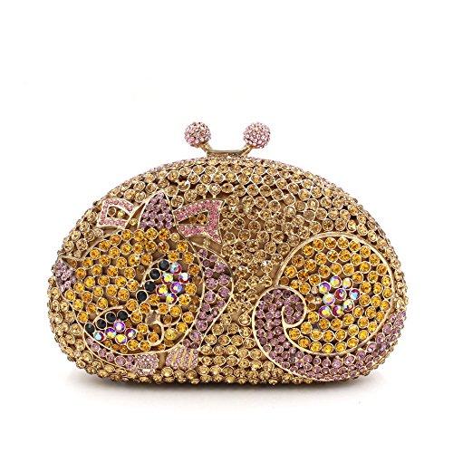 Petit sac C de soirée Mesdames mariage Favorite d'embrayage Chat main à luxe strass à sac de main de sac fête rqvrH0Xw