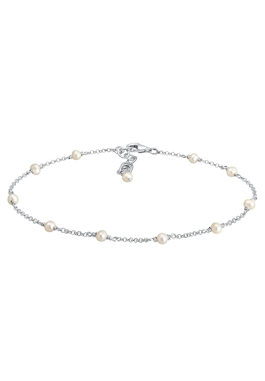 Elli Womens 925 Sterling Silver Anklet 0701391518/_22-22cm length