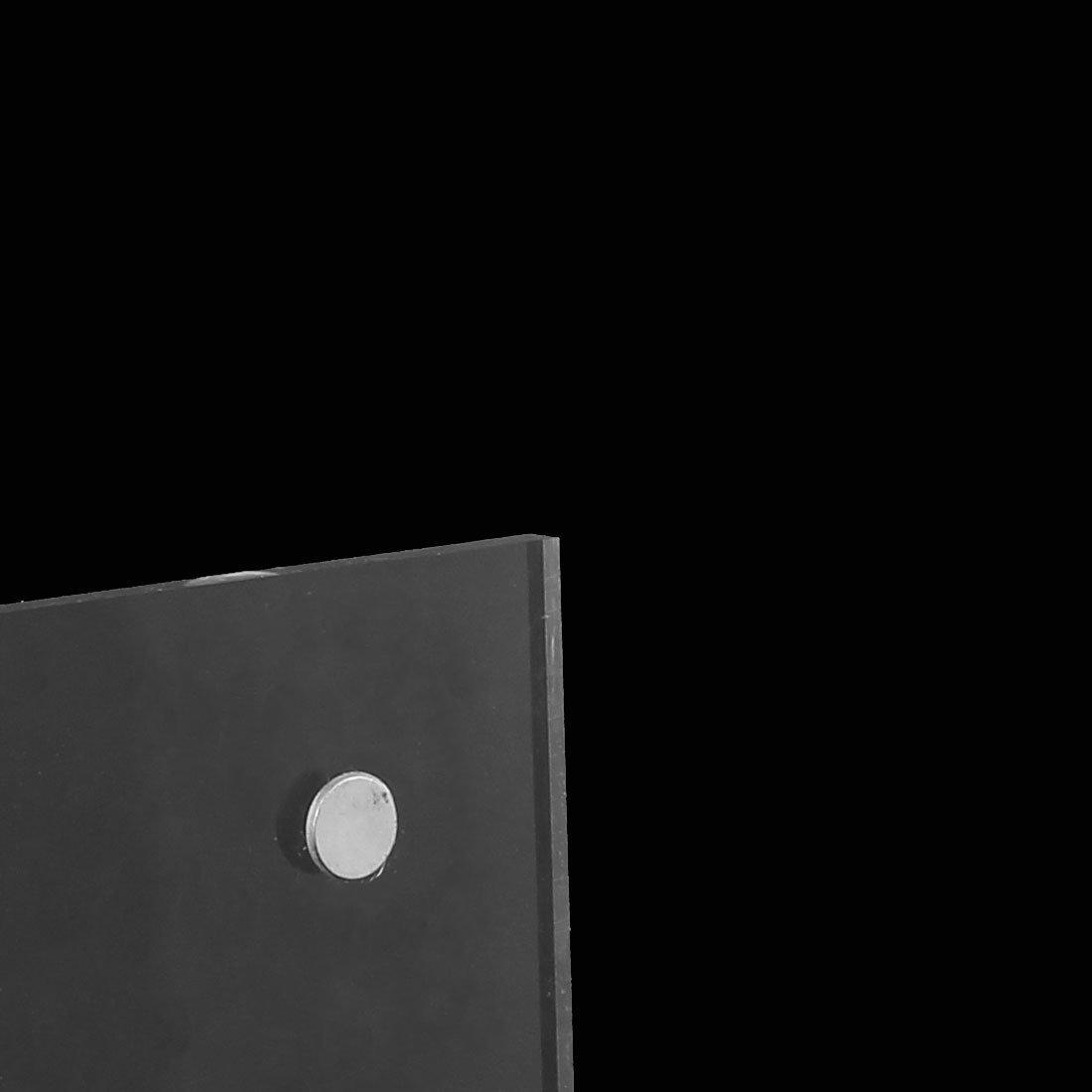 eDealMax Forte magnetismo orizzontale Pubblicità Tag Display Card supporto del banco di menù a prezzo 21x14.8cm