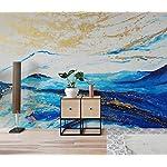 Carta Da Parati 3D Fotomurali Pittura A Olio Astratta Delle Montagne Blu Dorato Camera da Letto Decorazione da Muro XXL… 518q1akH91L. SS150