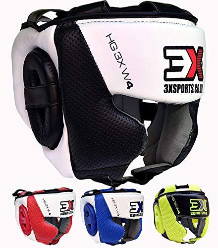 Cheek Protection Genuine Leather Headgear Farabi Boxing Headguard Safety Helmet MMA Training Pro Full Face