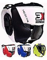 3X Professional Choice Boxeo Casco MMA Krav Maga Kickboxing Sparring Protector Entrenamiento Lucha Taekwondo niños y niñas (CE Certificado Aprobado)