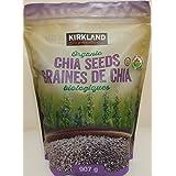 2 LB./ 907g./ 32oz./ Organic Chia Seeds, Premium, Gluten & GMO Free, Kirkland Signature. From CANADA.