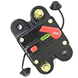 ANJOSHI 250amp Circuit Breaker 50A-300A Manual Reset Home Solar System Fuse Holder Car Audio Amps Protection 12V-24V DC Reset Fuse Inverter Replace Fuses